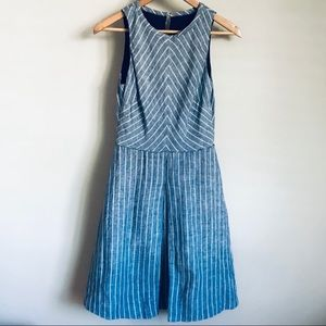 JCrew Linen Basketweave Striped Dress 4